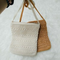 Harga baru tas rajut bali knitted sling bag dompet selempang | Hargalu.com