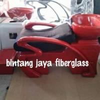 Kursi keramas salon LS - 391A Merah Jok Hitam