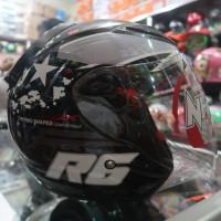 Helm Half Face NHK r6 Pixel Black