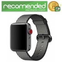 Tali Jam Tangan Nylon Apple Watch Series 1/2/3 - Hitam Lattice - 42mm