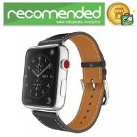 Tali Jam Tangan Leather Watchband Apple Watch Series 1/2/3 - Hitam -