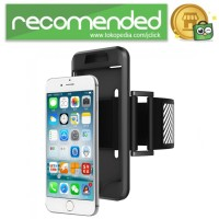 Sports Silicone Armband Case for iPhone - iPhone 7 - Hitam