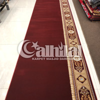 Karpet Masjid Roll Tebal Super Empuk Warna Merah Polos - THSM