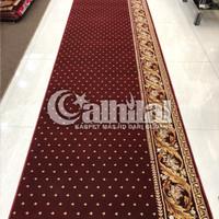 Karpet Masjid Roll Tebal Super Empuk Warna Merah Bintik - THSM