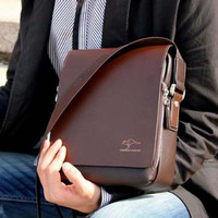 Tas Kulit Pria Import Selempang Kangaroo Shoulder Bag