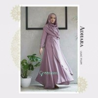 PROMO ADHARA DRESS gamis lebaran busui friendly original GREENISM TER