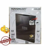 ANTENA TV TOYOSAKI AIO 220 + KABEL 10 M INDOOR/OUTDOOR LUAR DALAM
