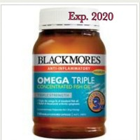 Jual Blackmores Omega 3 Triple Concentrated Odourless Fish Oil Exp Oct 2019 Murah