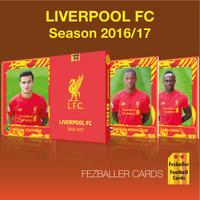 Kartu Bola Fezballer Cards edisi LIVERPOOL 2016-2017