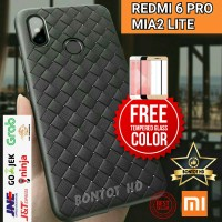 CASING CASE + TEMPERED GLASS HP XIAOMI REDMI 6 PRO / MI A2 MIA2 LITE