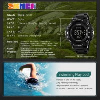 SKMEI Pedometer Heart Rate Tracking 1180 Original Water Resist 50M