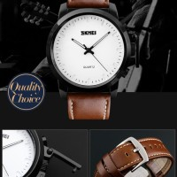 Jam Tangan Pria Casual SKMEI 1208 Original Leather Strap Anti Air 30M
