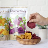 Kripik Ubi Madu Organik Sweetatoes Potato Chips Crisps Bionic Farm