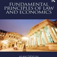 Fundamental Principles of Law and Economics - Alan Devlin (Economy)
