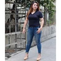 TERKINI # LARIS # Y148 JEANS JUMBO Skinny Wanita Bigsize Tidak Ripped