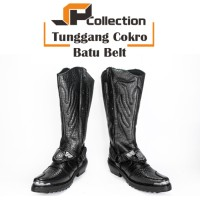 SEPATU Boots Pria Sepatu PDL Lantas Tunggang Polri Cokro Batu Belt
