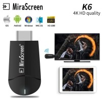 Mirascreen K6 DUAL BAND WiFi 2.4G/5G Support video 4k ,ezcast ,anycast