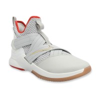 c7bb91b9238 NIKE Lebron Soldier 12 Yeezy Men Basketball Shoes - Grey White
