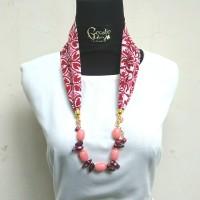 Harga kalung etnik 2in1 gelang batik manik kaca batu mutiara handmade | Pembandingharga.com