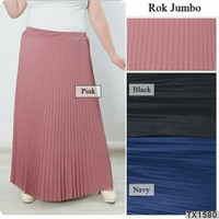 Rok Plisket JUMBO SIZE Premium Quality /Rok Rempel Panjang / Rok hijab