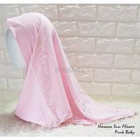 Hijab Murah JILBAB SEGI EMPAT UMAMA SUN FLOWER MEWAH PARTY STYLE by N