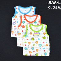 Baju Bayi / LIBBY 3 Pcs Oblong Singlet Bayi/Baby Motif S,M,