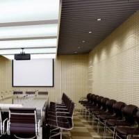 Perforated panel HPL putih 60x60 cm 6 mm