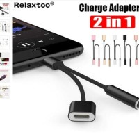 Cable Splitter Lightning to 3.5mm Jack Adapter for iPhone X/7/7+/8/8+