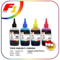 Tinta Sublim F1 Ink for Printer Epson 1 Set Warna CMYK 100ml Original