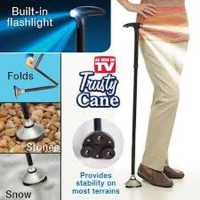 Tongkat Lipat LED Trusty Cane Folding Magic Wand Bantu Medis Terapi Ok