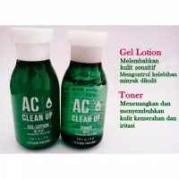 Etude Ac Clean Up Gel Lotion atau Toner 15ml - Sample Trial