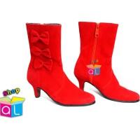 Sepatu fashion show anak sepatu mayoret anak sepatu pita samping c3836b58af