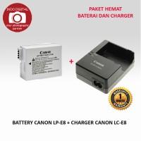 PAKET BATERAI CANON LP-E8 + CHARGER LC-E8