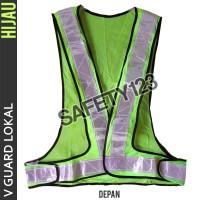 Rompi Jaring V Guard Lokal Scotlight Vest Kerja Proyek Safety Hijau