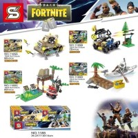 SY 1185 FORTNITE set 4 Minifigure lego SY1185 Police Army swat
