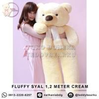 Harga boneka teddy bear fluffy syal super jumbo 1 2 meter warna | Pembandingharga.com