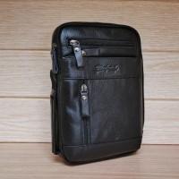 BAG tas selempang & pinggang asli kulit Clinford STA5327 black