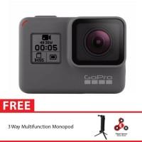 GoPro Hero5 / GoPro Hero 5 Black + 3 Way Monopod SpinIndo