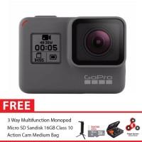 GoPro Hero5 / GoPro Hero 5 Black Combo 3 Way Deluxe 16GB SpinIndo