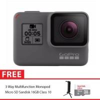 GoPro Hero5 / GoPro Hero 5 Black Combo 3 Way Supreme 16GB