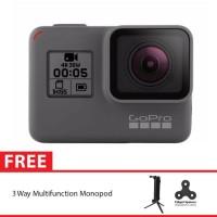 GoPro Hero5 / GoPro Hero 5 Black + 3 Way Monopod Spin