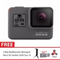 GoPro Hero5 / GoPro Hero 5 Black Combo 3 Way Supreme 32GB SpinIndo