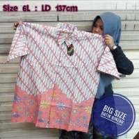 Hem batik JUMBO kode 0397 / Kemeja Batik Big Size / Batik Binzah
