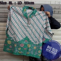 Blus Batik JUMBO kode 0398 / Batik Perempuan Big Size / Batik Binzah