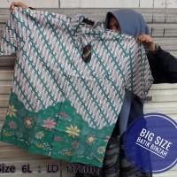 Hem Batik JUMBO kode 0399 / Kemeja Batik Kerja Big Size / Batik Binzah
