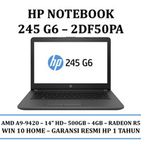 Laptop/Notebook HP Notebook 245 g6 (2DF50PA) 4GB-WIN 10 HOME