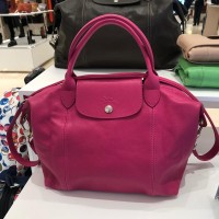 Longchamp Cuir Small Pink