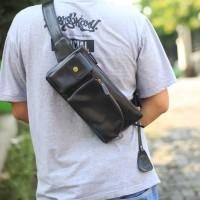 Waist Bag Swiss Black - Kenes Leather