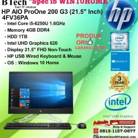 HP AIO ProOne 200 G3 - 4FV36PA Core i5-8250U/4GB/1TB/WIN10HOME/3YR