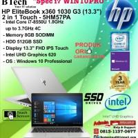 HP EliteBook x360 1030 G3 - 5HM57PA Core i7-8550U/8GB/512GB/WIN10PRO